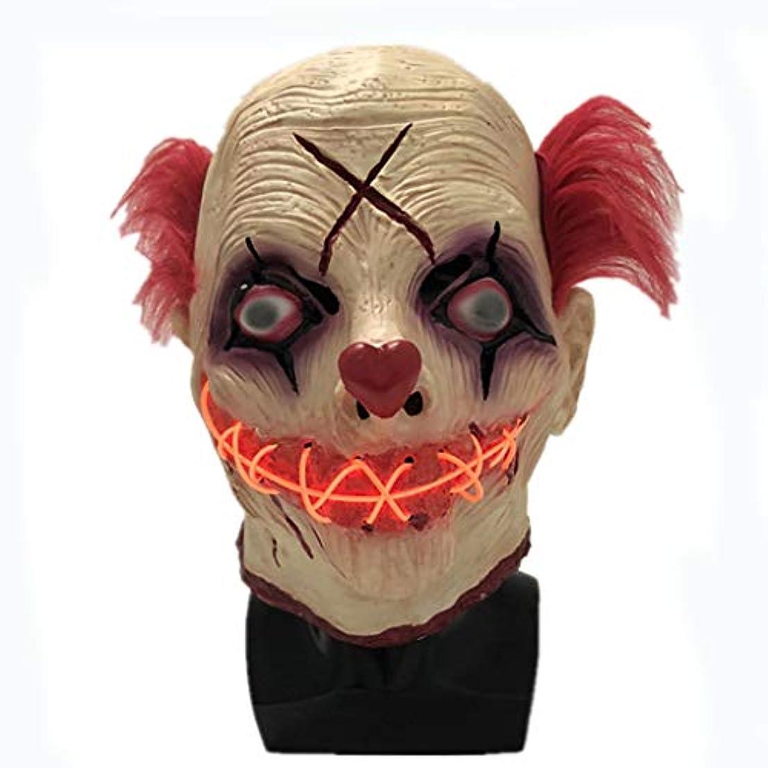 ハロウィンマスクLEDライトアップマスクグローイングマスク、コスプレハロウィン