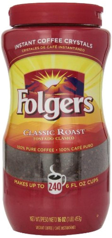 【香り豊かなインスタントコーヒー】Folgers Classic Instant Coffee 16オンス入り ハワイ直送品