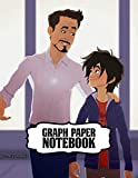 Graph Paper Notebook: Big Hero 6 Baymax Graph Paper Notebook Fantastic Incredible Drawing Photo Art Inexpensive Gifts for Boys and Girls Soft Glossy Graph Paper Notebook with Grid Paper for Math & Science Students 8.5 x 11 in large (21.59 x 27.94 cm)