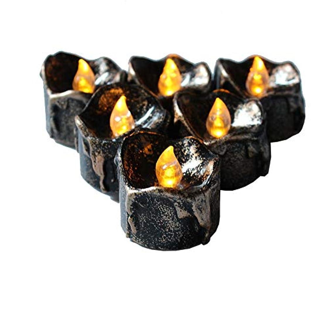 鳥芸術ピースキャンドルライト ハロウィン12パックLED電子黒蝋燭は、電子キャンドルライトクリスマス装飾を導いた クリスマス 結婚式 誕生日 室内 室外飾り インテリアライト