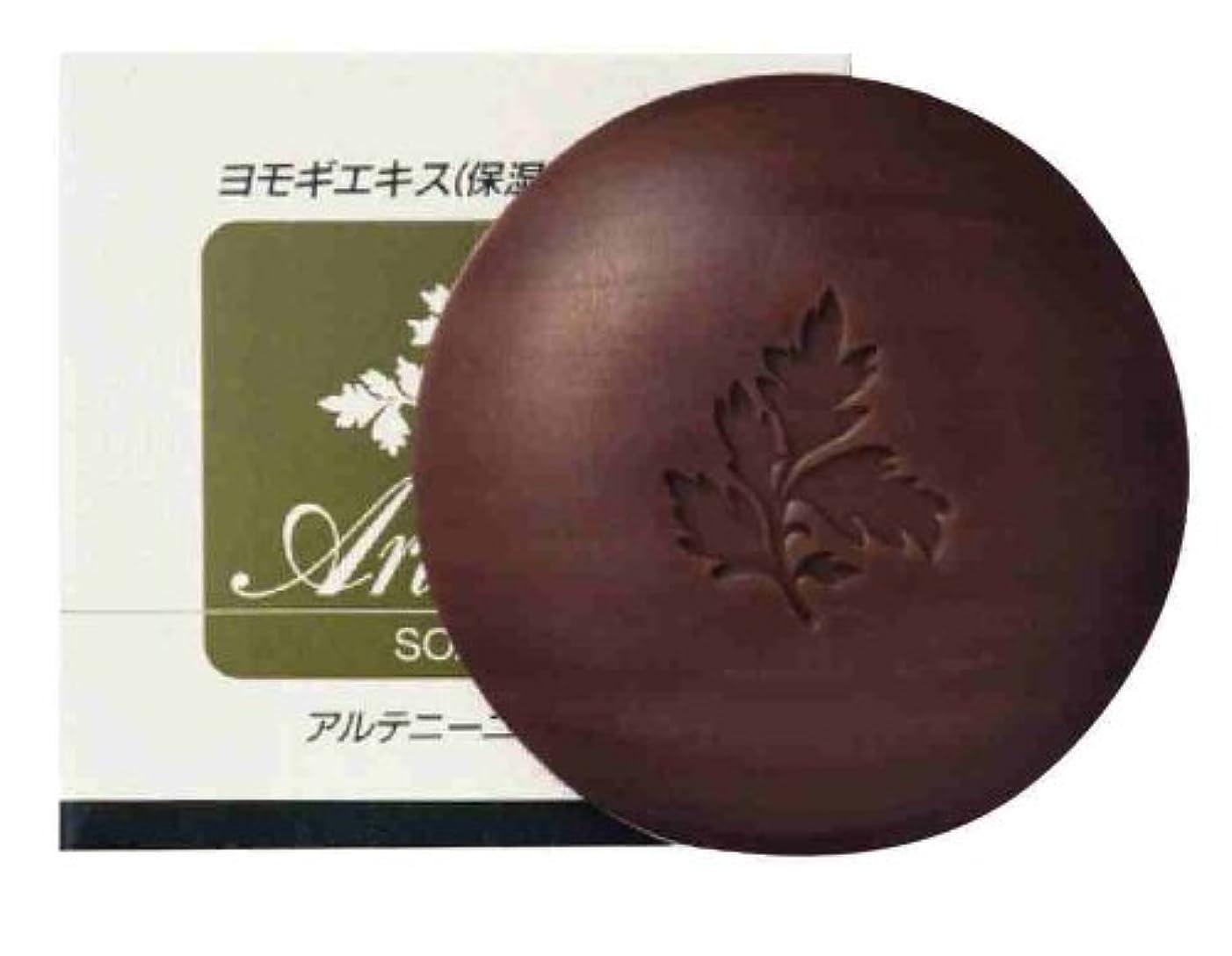 限りなく掃く簡潔なアルテニーニ石鹸(ヨモギエキス配合)90g×3個セット