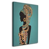 美しい黒の女性 アフリカの女性 装飾画 絵画 壁掛け アートパネル インテリア ポスター 横 玄関 木製額縁なし 部屋飾り 壁掛け式 現代 モダンアート 高品質 壁の絵 軽くて取り付けやすい 居間 背景 モダン
