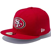 New Era ニューエラ 5950キャップ レッドロゴ NFLカスタム ヒートシール サンフランシスコ 49ERS スカーレット スカーレット チームカラー スノーホワイト 11322623