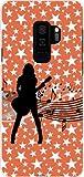 ギャラクシー エスナインプラス GALAXY S9+ docomo au ハードカバー ケース ギターガール スマホケース スマホカバー デザインケース