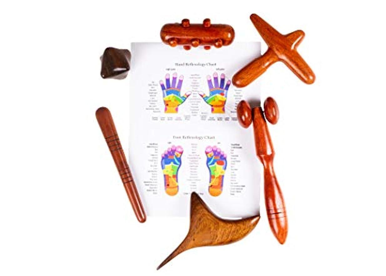国際技術意図するCCcollections 足と手のマッサージ木の棒 (6 Tool PRO)