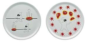 【正規輸入品 食品検査合格品】 ALESSI アレッシィ Pummaroriella Piatti ピザプレート 2枚セット / セット2 AMGI08 S2