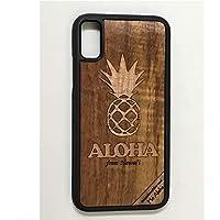 iPhone X/XS カバー 【 パイナップル 】 ハワイ スマホ ケース 【 Ho Aloha 】 ハワイアン コアウッド アイフォン ケース