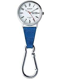 ナースリー 10気圧防水カラビナウォッチ 10気圧 防水 時計 キーホルダー 看護 懐中時計 ネイビー 1147268A
