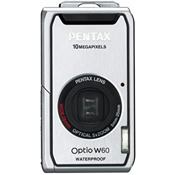 PENTAX デジタルカメラ OPTIO (オプティオ) W60 シルバー 1000万画素 光学5倍ズーム OPTIOW60S
