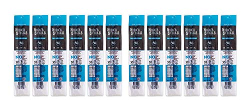 Nick's Sticks 100%グラスフェッドビーフスナックスティック−グルテンフリー—抗生物質やホルモン不使用(2スティック入り12パック) (インポート)