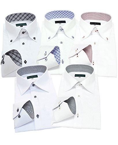 グリニッジ ポロ クラブ 長袖ワイシャツ5枚セット 豊富な7サイズ pb 444-LL