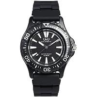 [シチズン キューアンドキュー]CITIZEN Q&Q 腕時計 10気圧防水 ソーラーウォッチ 電池不要 メンズ レディース キッズ ダイバーズデザイン 回転ベゼル ブラック×ホワイト