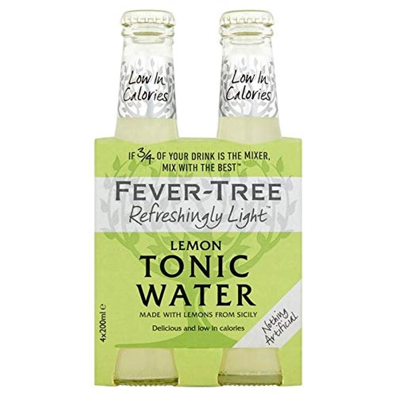 お手入れ良性化学薬品[Fever-Tree ] 発熱ツリー爽快光レモントニック水4×200ミリリットル - Fever-Tree Refreshingly Light Lemon Tonic Water 4 x 200ml [並行輸入品]