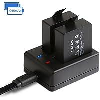 APEMAN アクションカメラ 専用互換バッテリー 1050mAh充電式バッテリー2個 急速デュアル充電器 miniUSBケーブル