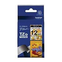 ブラザー工業 TZeテープ ディズニーテープ(プーさんホワイト/黒字) 12mm TZe-DW31
