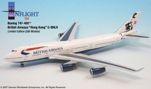 1: 200 インフライト ブリティッシュ 航空 ボーイング 747-400 Hong Kong (並行輸入)