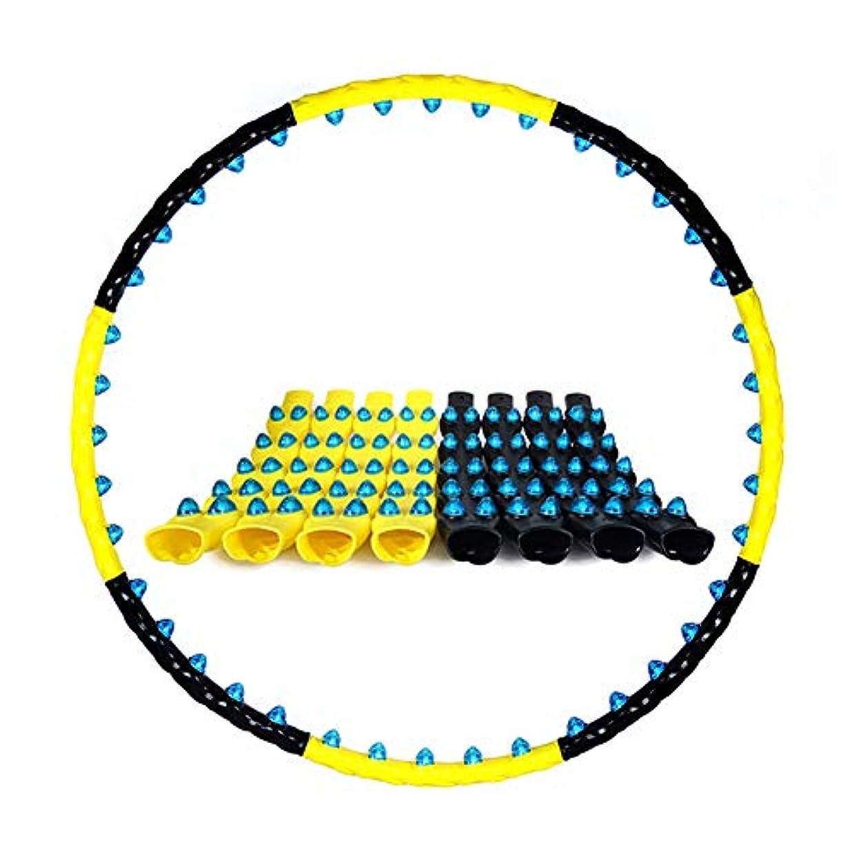 カジュアル苦荒れ地取り外し可能なフラフープ折りたたみウェーブマッサージフラフープフィットネス8セクションフラフープ80マグネット磁気治療鍼マッサージ