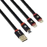 Best MOTOROLA 6インチの携帯電話 - Valkit iPhone ケーブル 専用,Micro Lightning ケーブル 専用 3in1 3.3インチ USB Review