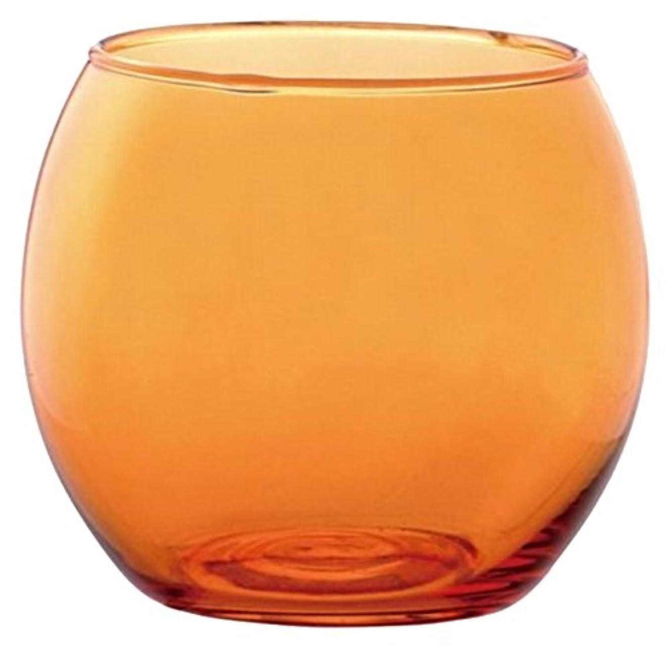 またブランド名キラウエア山カメヤマキャンドルハウス スフィアキャンドルホルダー  オレンジ