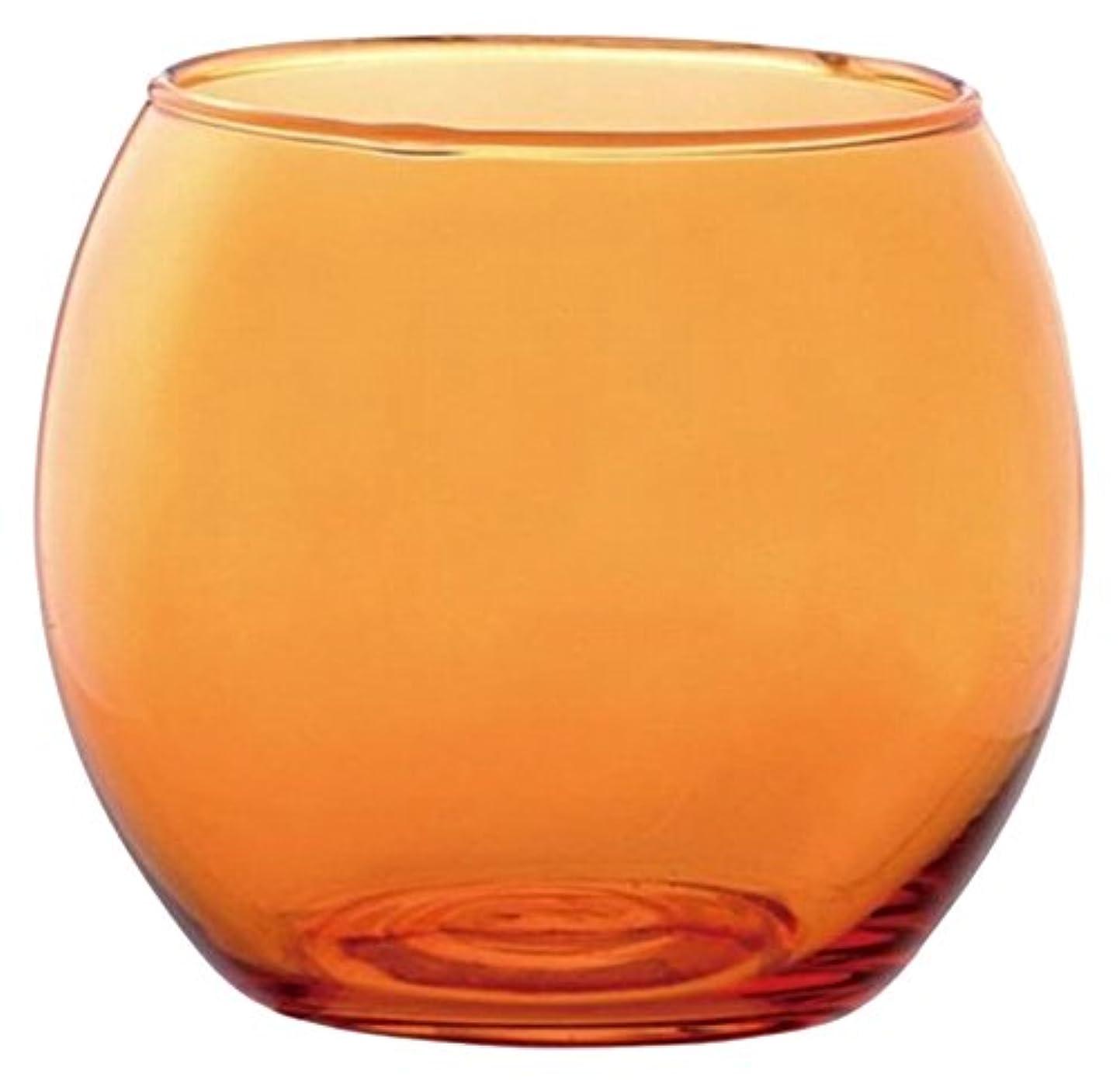 可能性休憩する十分なカメヤマキャンドルハウス スフィアキャンドルホルダー  オレンジ