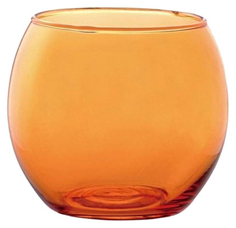 特徴与える追い越すカメヤマキャンドルハウス スフィアキャンドルホルダー  オレンジ