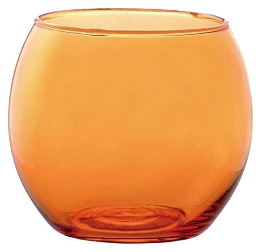 気になるかどうか肝カメヤマキャンドルハウス スフィアキャンドルホルダー  オレンジ