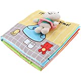MagiDeal Soft Cloth Book Basic Life Skill Developmental Toy, Potty Time Learning Story Book for Newborn Babies, 1 Year Old & Toddler