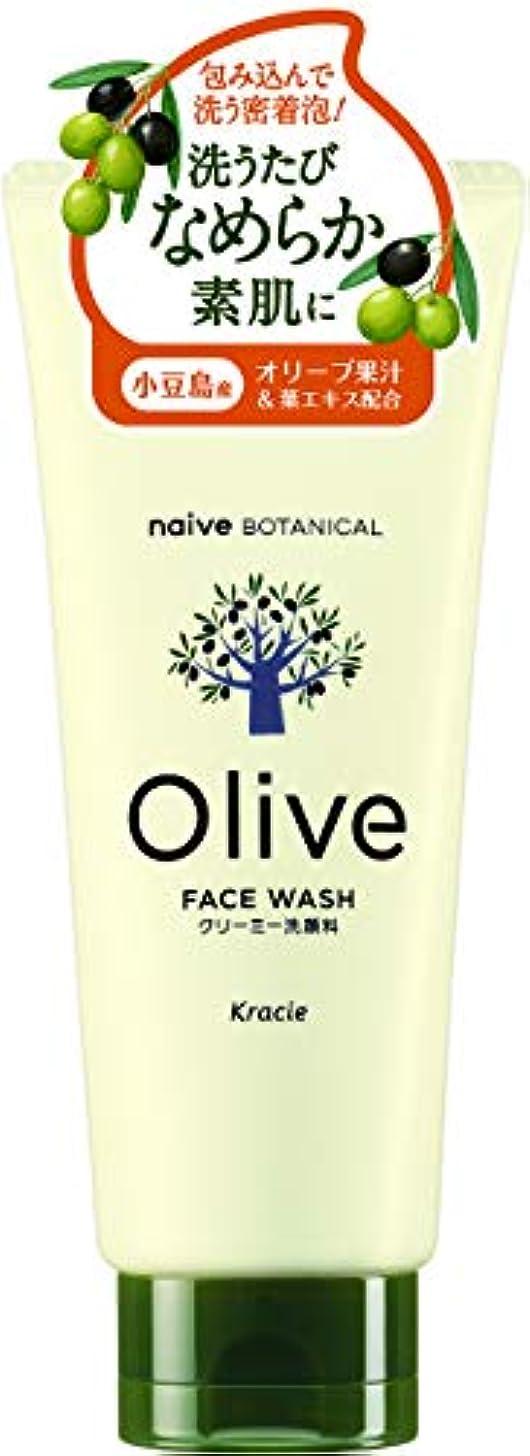 妻果てしない研磨オリーブの恵み ナイーブ ボタニカル クリーミー洗顔料130g