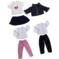 SONONIA  3スーツ  衣類セット Tシャツ ジーンズ プリーツ ドレス 18インチアメリカンガールドール用