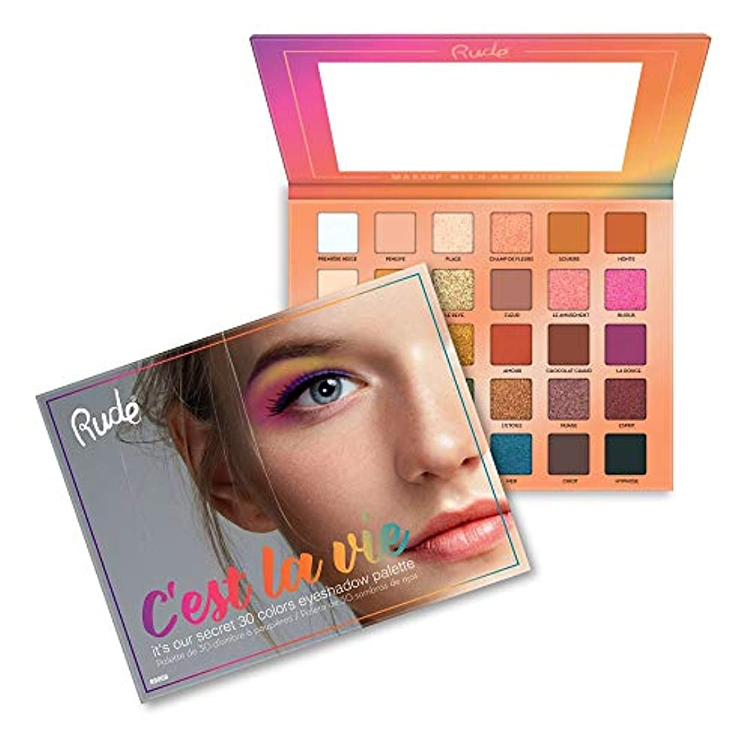 ラベル住所スラム(3 Pack) RUDE? C'est La Vie - 30 Eyeshadow Palette (並行輸入品)