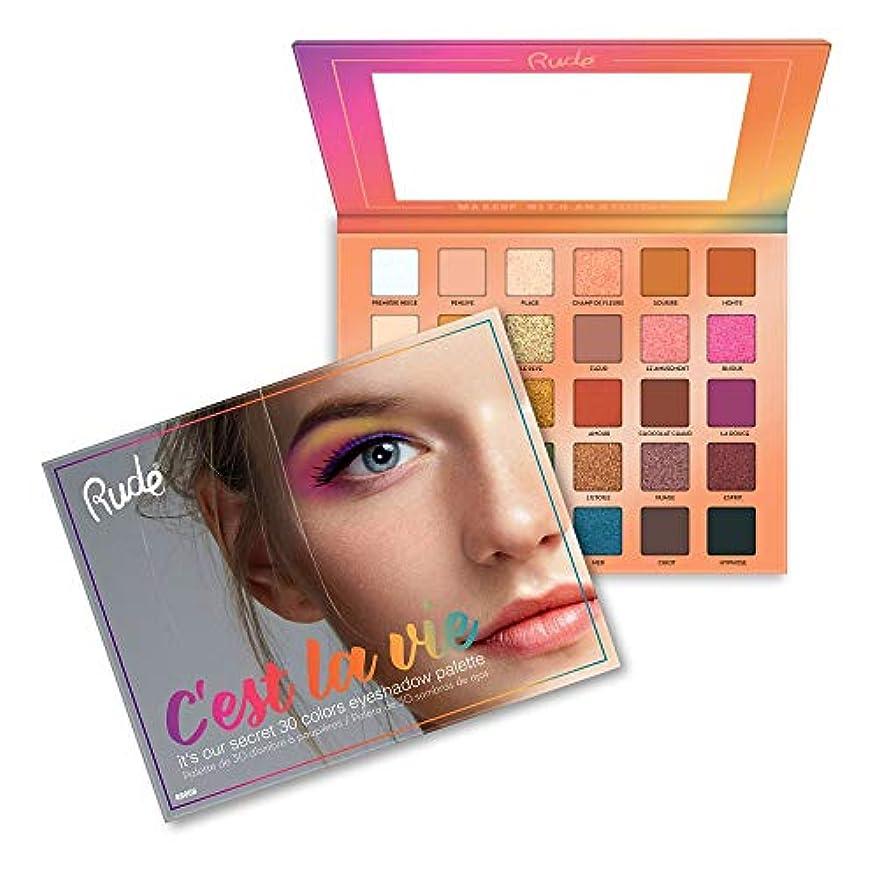 終わった成功大破(3 Pack) RUDE? C'est La Vie - 30 Eyeshadow Palette (並行輸入品)