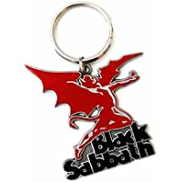 Black Sabbath Keyring Keychain Demon band logo Official metal One Size