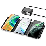 ワイヤレス充電器 ZealSound 急速充電 3台同時充電 ワイヤレスチャージャー quick charge 3.0 急速 多機能ワイヤレス充電器 airpodsワイヤレス充電ケース、IPhone XS Max/XR/iPhone 8/8 Plus/Samsung Galaxy S10/Galaxy S9/S9+/S8/S8+/Note 8/S7/S7/Sony SZ2/Xperia XZ3, HUAWEI Mate RS/20 pro/20 RSなどQI機種対応