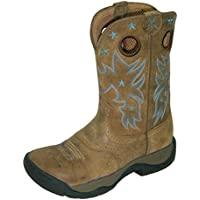 Twisted X Women's Distressed All Around Barn Boot Round Toe Bomber 9 M US