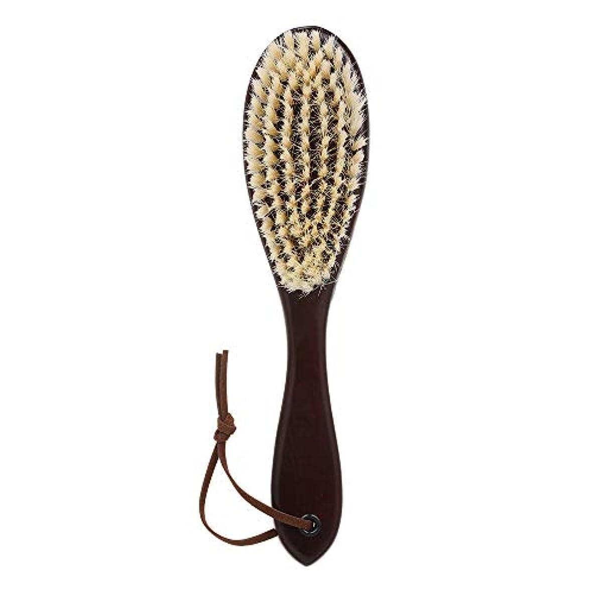 選挙インディカ型Decdeal 木製 ひげブラシ シェービングツール メンズ用 髭剃り シェービングブラシ