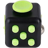 ストレス解消キューブ OTBBA 不安 緊張 ストレス解消 ポケットゲーム ブラック (ブラック+グリーン)