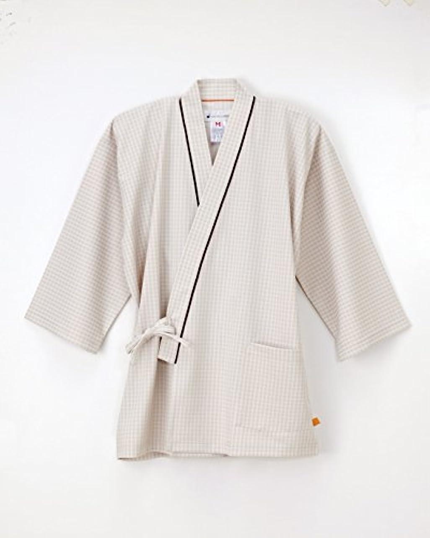 不正確近所のスキニー医療用ユニフォーム 男女兼用患者衣(甚平型) FG-1511(LL) ベージュ