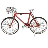 合金製 ダイキャスト レーシングバイクモデル 自転車模型 おもちゃ 飾り 全6種 - 赤#2