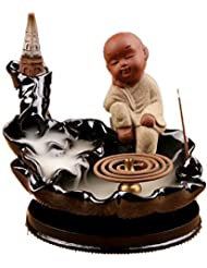 XPPXPP Waterfall Incense Holder Chinese Ceramic Reflux Incense Burner With 10 Reflux Cones