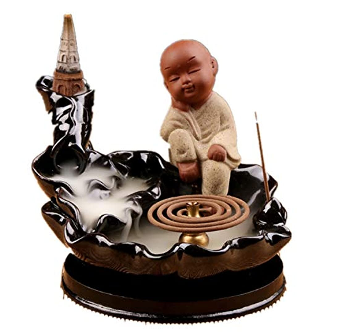 空いているパトワ退屈なXPPXPP Waterfall Incense Holder Chinese Ceramic Reflux Incense Burner With 10 Reflux Cones