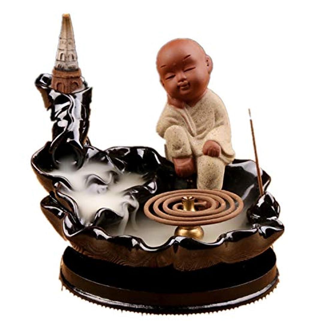 舌なシャンプー軌道XPPXPP Waterfall Incense Holder Chinese Ceramic Reflux Incense Burner With 10 Reflux Cones