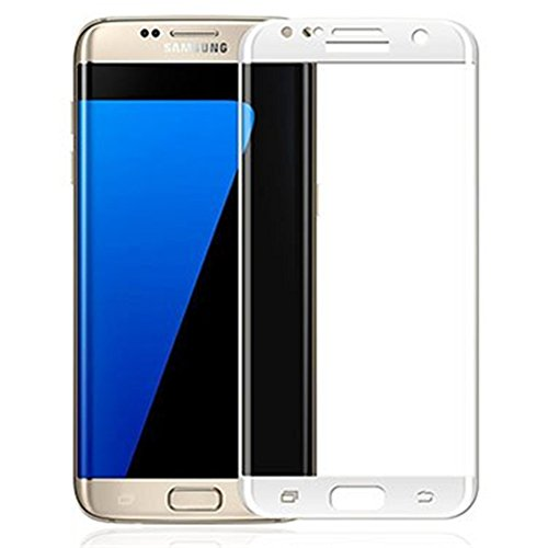 Lakko Samsung Galaxy S7 edge 強化ガラスフィルム 3D 全面 SCV33 / SC-02H 液晶保護 白
