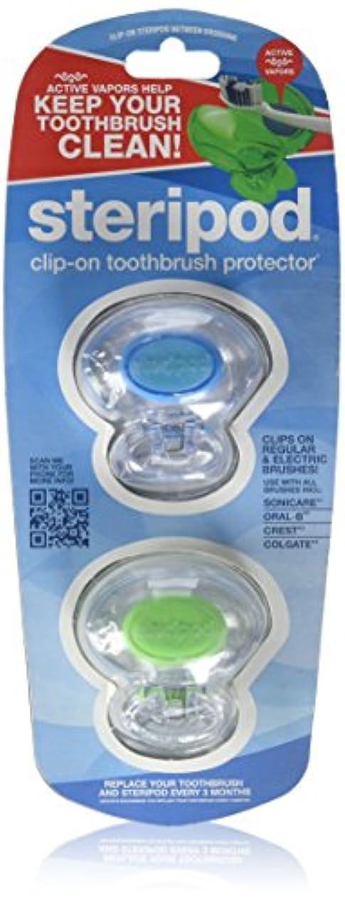 無視できる迅速お酒Bonfit America Inc., Steripod, Clip-On Toothbrush Protector, 2 Pack