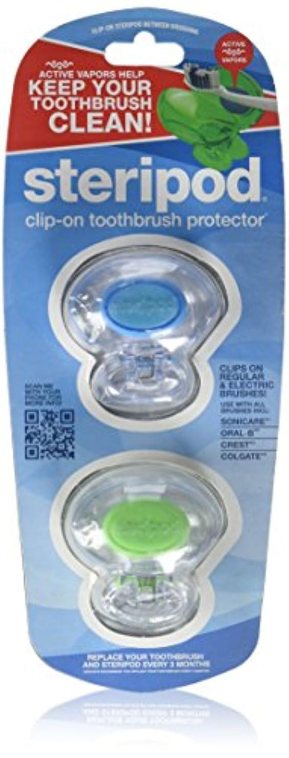 意識的摂氏リビングルームBonfit America Inc., Steripod, Clip-On Toothbrush Protector, 2 Pack