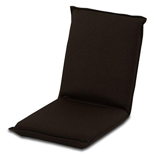 リクライニング 座椅子 フロアチェア 1人掛け 座いす 折りたたみ ハイバック 1人用 チェア 6段階 ブラウン