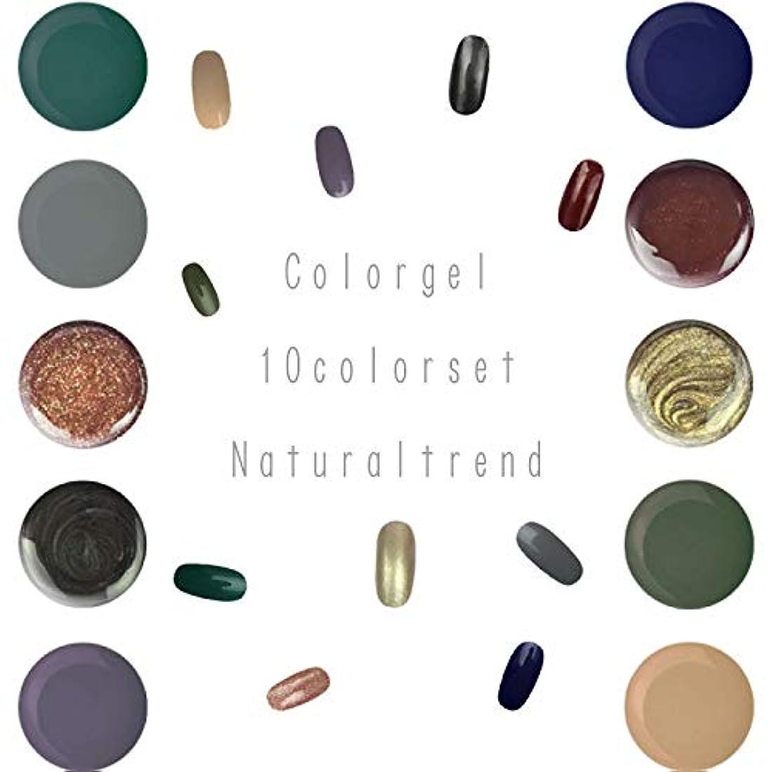 間違いなく山積みの悪党NaturalTrend ジェルネイル 10色セット カラージェル カラージェルセット ジェルセット (Bセット)