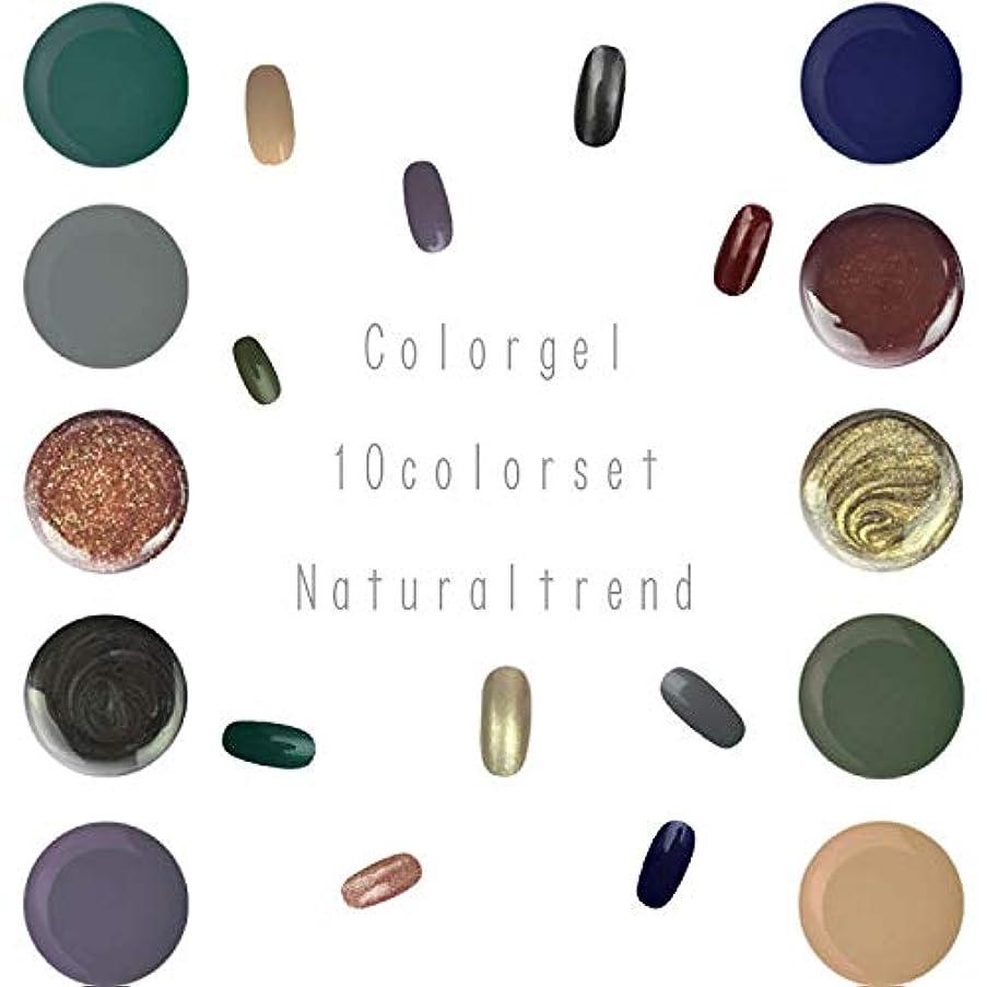 刻む会議酔ってNaturalTrend ジェルネイル 10色セット カラージェル カラージェルセット ジェルセット (Bセット)