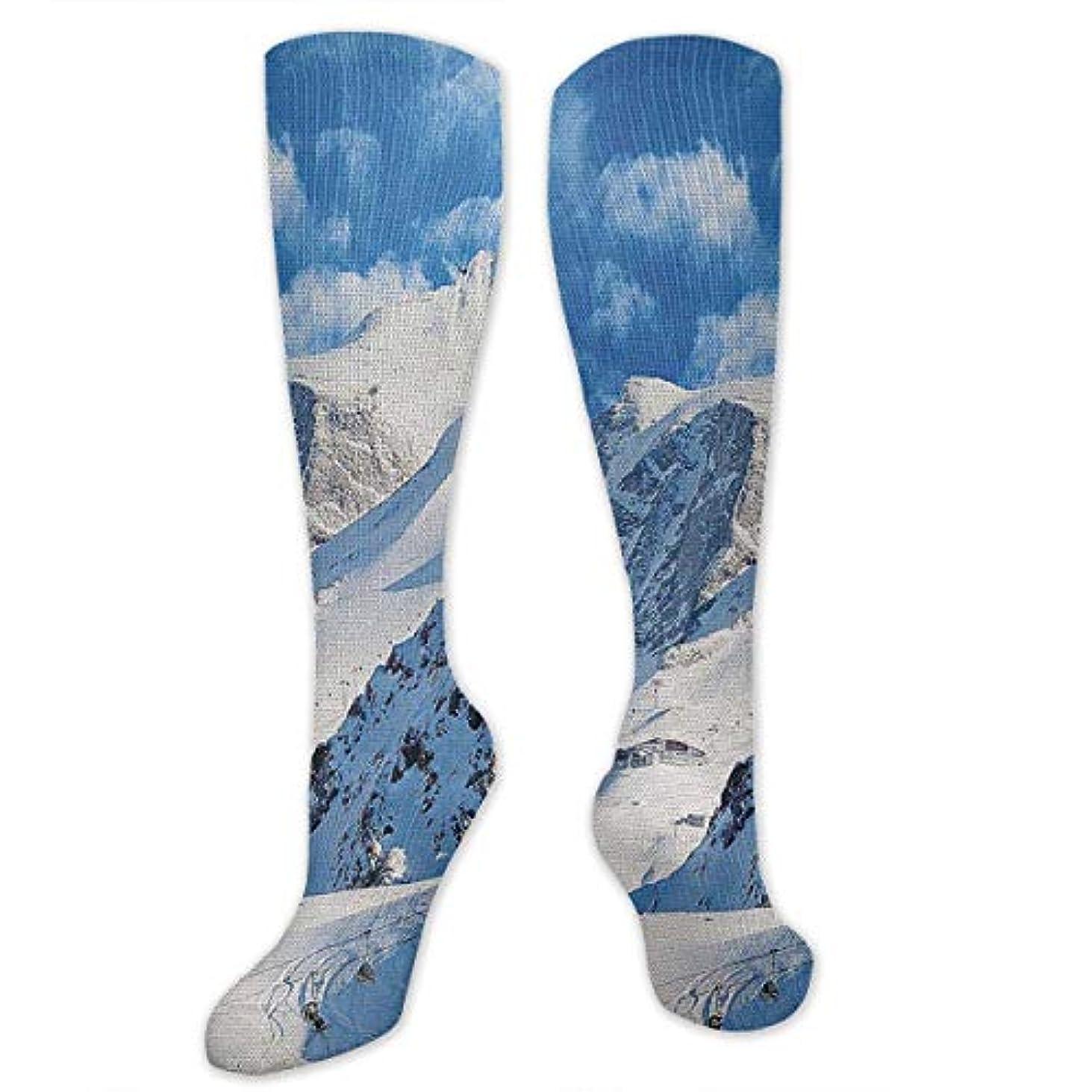 上カリキュラム迫害する靴下,ストッキング,野生のジョーカー,実際,秋の本質,冬必須,サマーウェア&RBXAA Mountain Landscape Ski Socks Women's Winter Cotton Long Tube Socks...