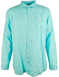 Tommy BahamaトミーバハマメンズSea Glass Breezerリネンシャツ、Clear Ocean