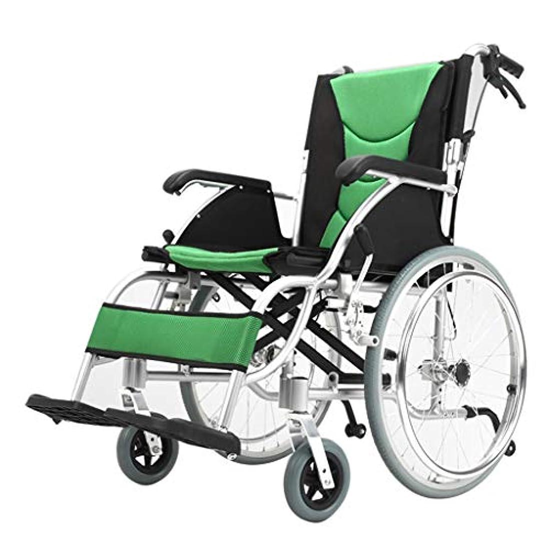 トレイル憂鬱画面車椅子折りたたみ軽量オールドカート、アルミ合金超軽量障害者旅行オールドスクーター、折りたたみ式背もたれ